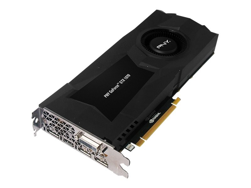 PNY GeForce GTX 1070 PCIe 3.0 x16 Founders Edition Graphics Card, 8GB GDDR5, VCGGTX10708PB