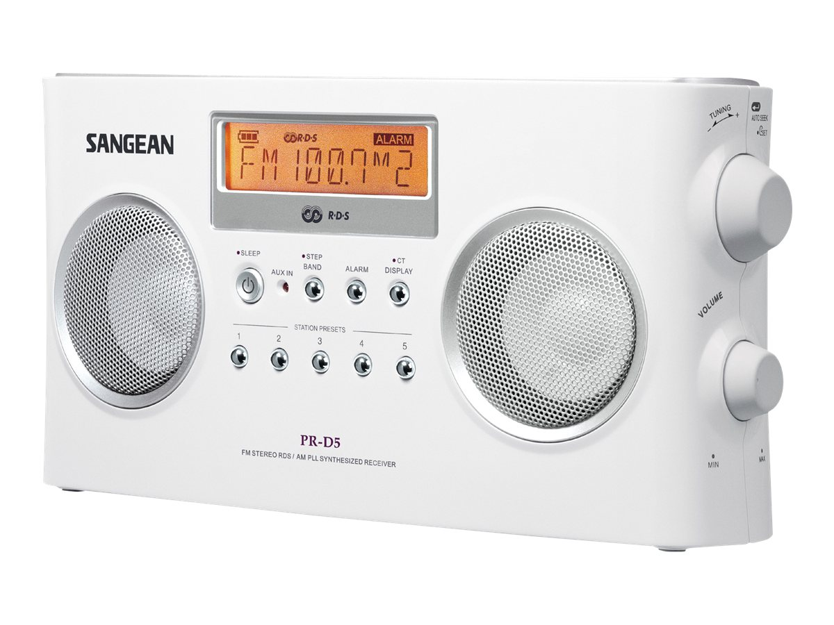 Sangean Digital Tuning Portable Stereo Receiver with RDS, PR-D5P, 10036648, Portable Stereos