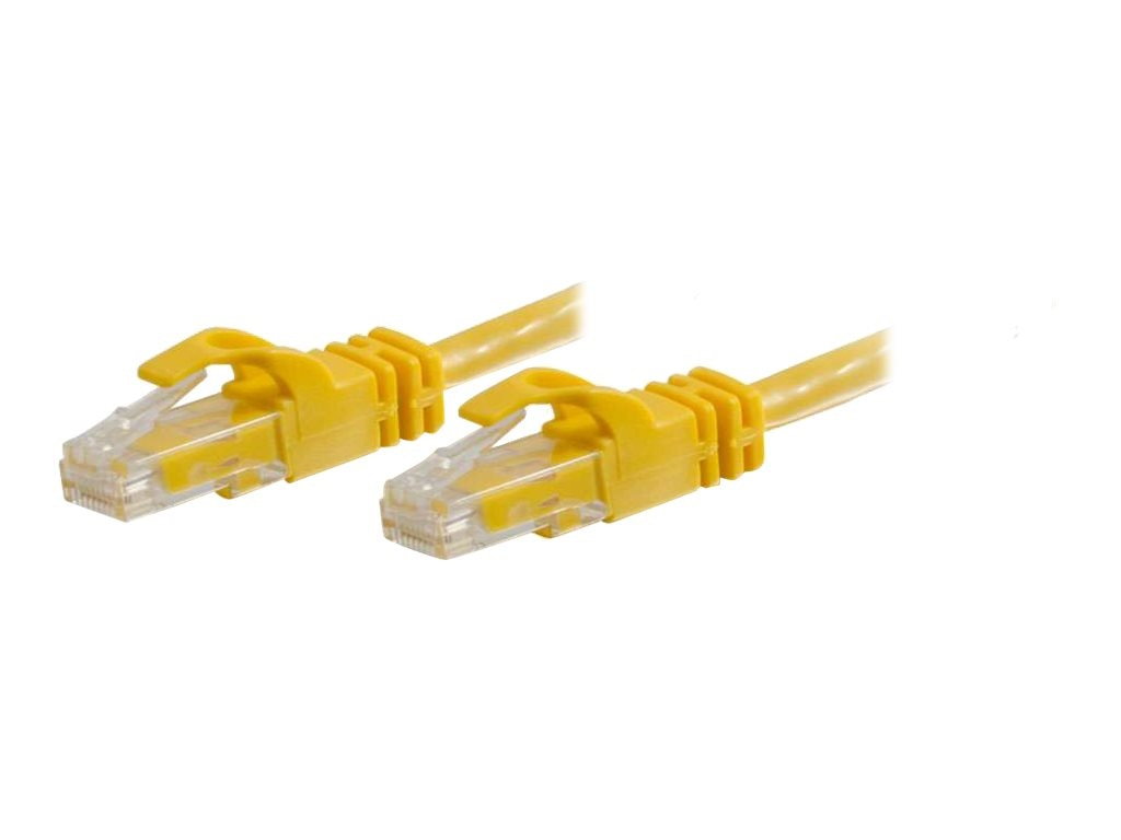 C2G Cat6 550Mhz Snagless Crossover Cable, Yellow, 7ft
