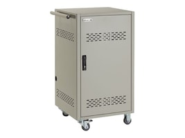 Black Box 30-Unit iPad, Chromebook, Tablet, and Laptop Charging Cart, Hinged Doors, Timer, LCC30H-ACT, 30927691, Computer Carts