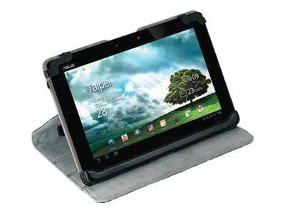 Targus Truss Leather Case Stand for Asus Prime 10.1, Black Gray, THZ172US, 13655356, Carrying Cases - Tablets & eReaders