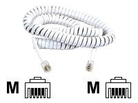 Belkin Pro Series Telephone HandSet Cord, 25ft, Gray, Spiral Cable, F8V101-25-GY, 8204500, Cables