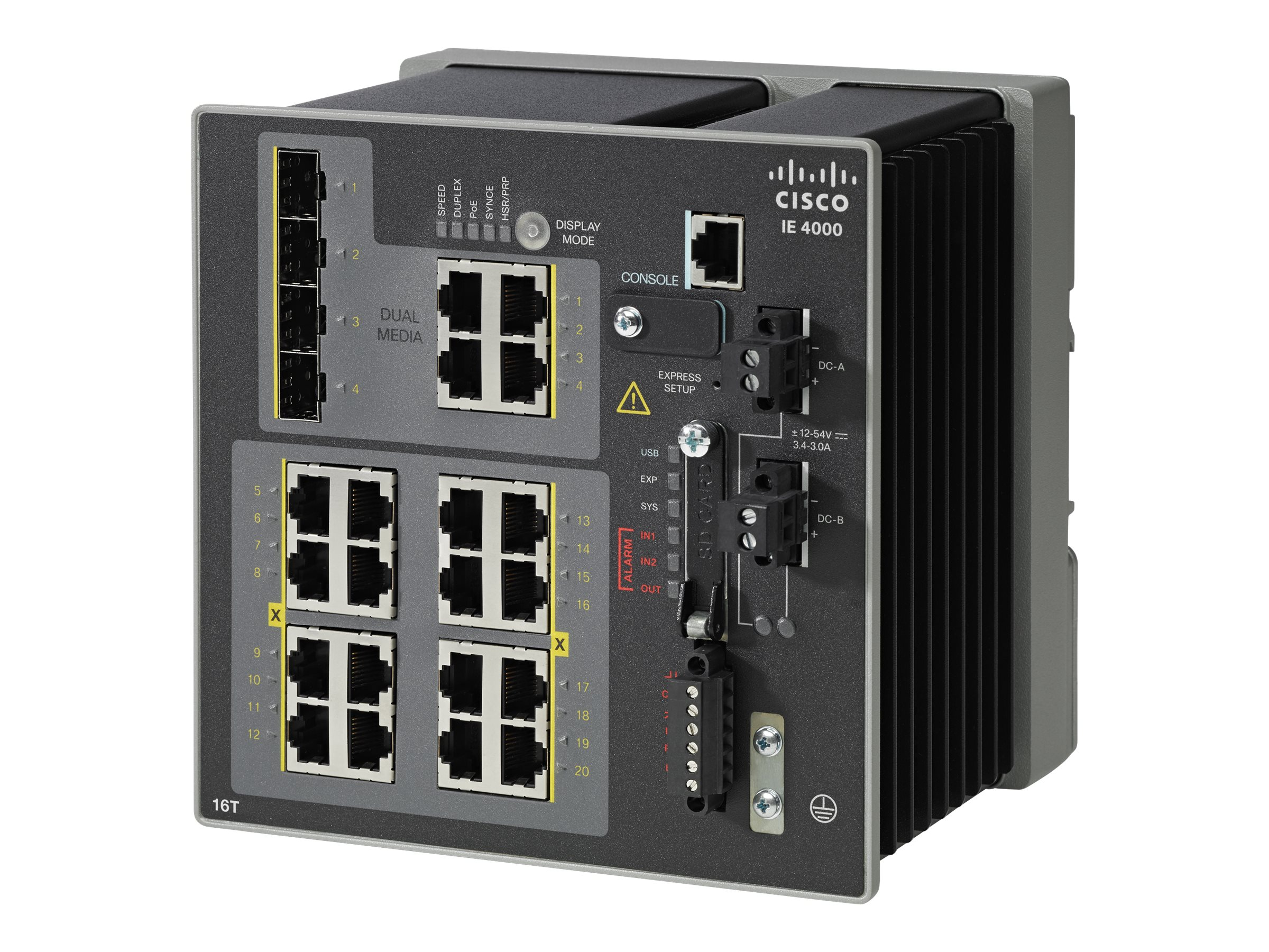 Cisco IE 4000 16 X RJ45 10 100M 4 X 1G Combo LAN Base, IE-4000-16T4G-E, 19019131, Network Switches