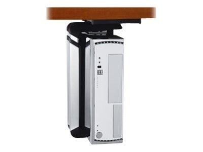 Humanscale CPU Holder, White Brushed Aluminum, CPU600W, 25486641, Cart & Wall Station Accessories