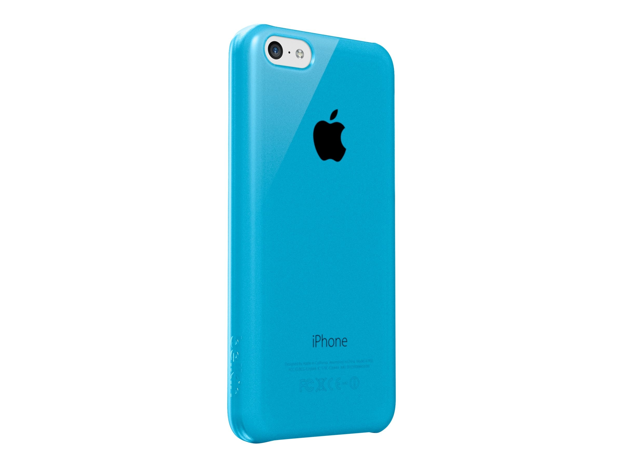 Belkin Shield Sheer Matte for iPhone 5C, Topaz, F8W375BTC03, 16282292, Carrying Cases - Phones/PDAs