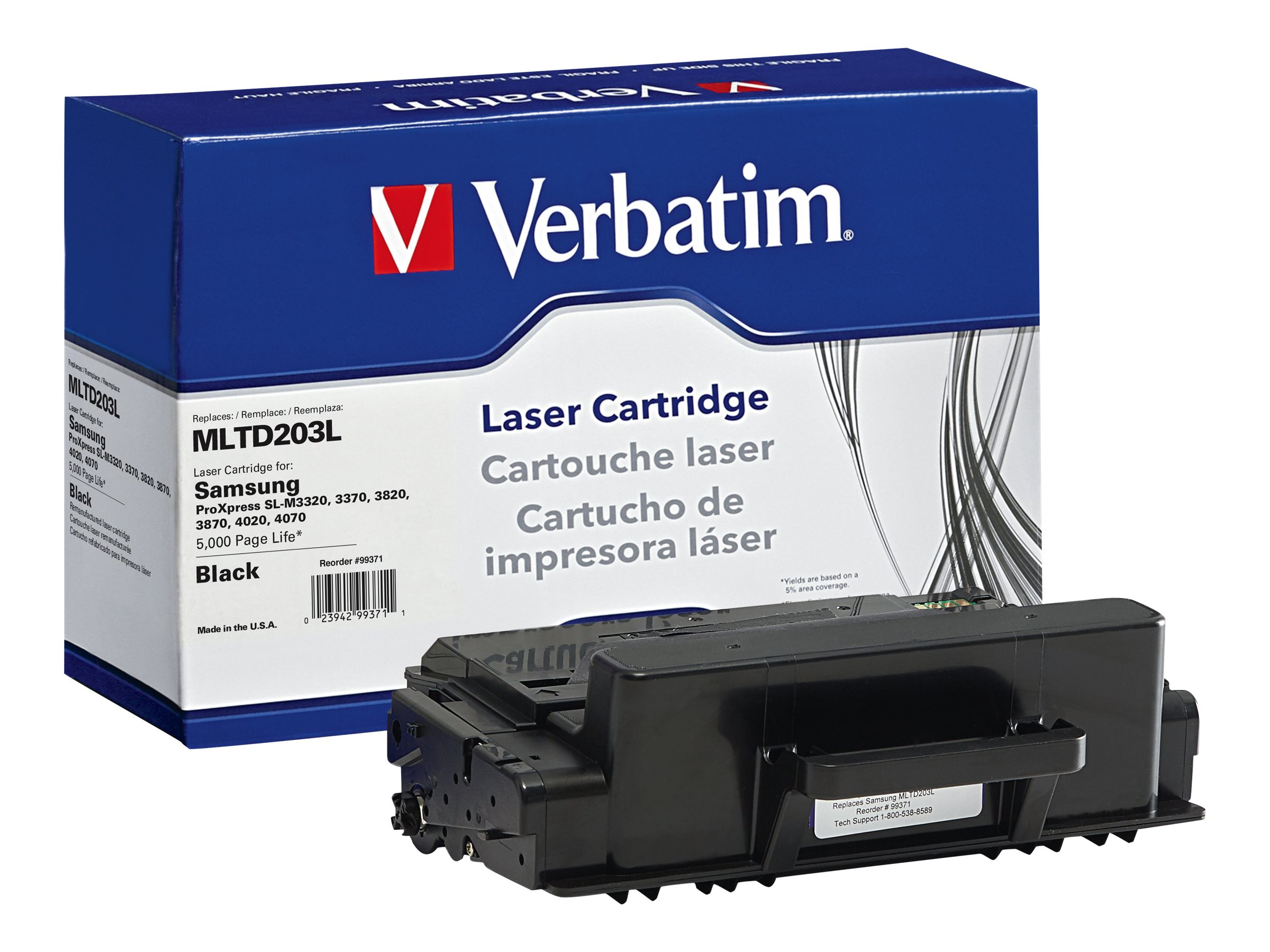 Verbatim MLTD203L Toner Cartridge for Samsung, 99371