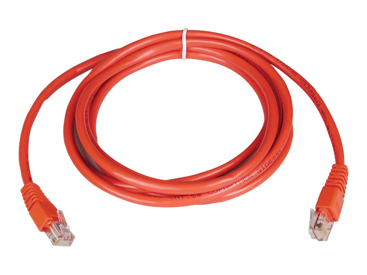 Tripp Lite Cat5e RJ-45 M M 350MHz Molded Patch Cable, Red, 10ft, N002-010-RD, 169165, Cables