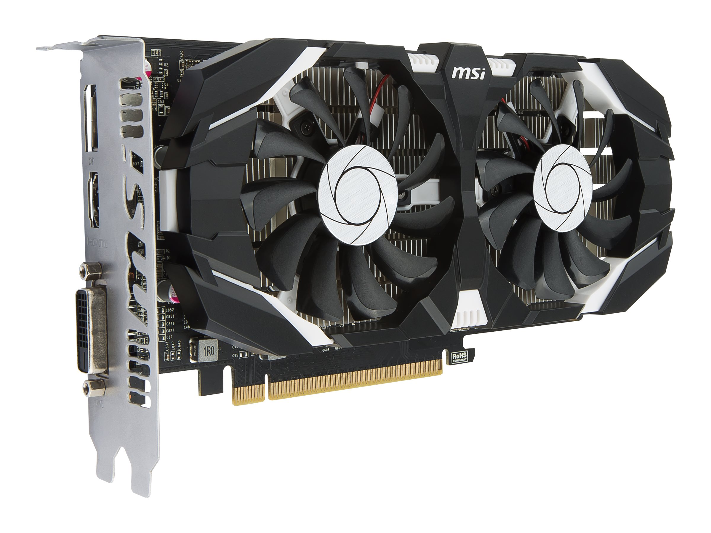 Microstar NVIDIA GeForce GTX 1050 PCIe 3.0 x16 Graphics Card, 3GB GDDR5, GTX 1050 2GT OC