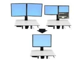 Ergotron LCD Laptop-to-Single LCD Mount Kit for WorkFit-C, 97-607, 13165568, Ergonomic Products