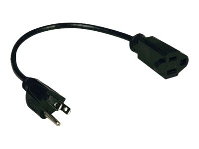 Tripp Lite Power Strip Liberator Extension Cable, NEMA 5-15R to 5-15P, 1ft, P022-001