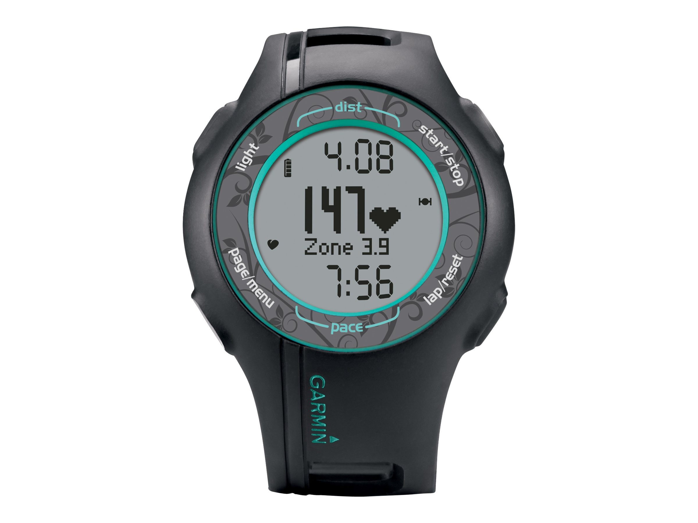 Garmin Forerunner 210 With Heart Rate Monitor, Teal, 010-00863-38, 16146231, Wearable Technology