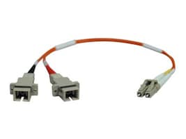 Tripp Lite Fiber Adapter Cable, LC SC (M-F), 62.5 125, Duplex, Multimode, 1ft, N458-001-62, 7158193, Adapters & Port Converters