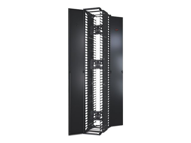 APC Performance Vertical Cable Manager for 2- & 4-post Racks, 84h x 12w, Double-Sided w  Doors, AR8675