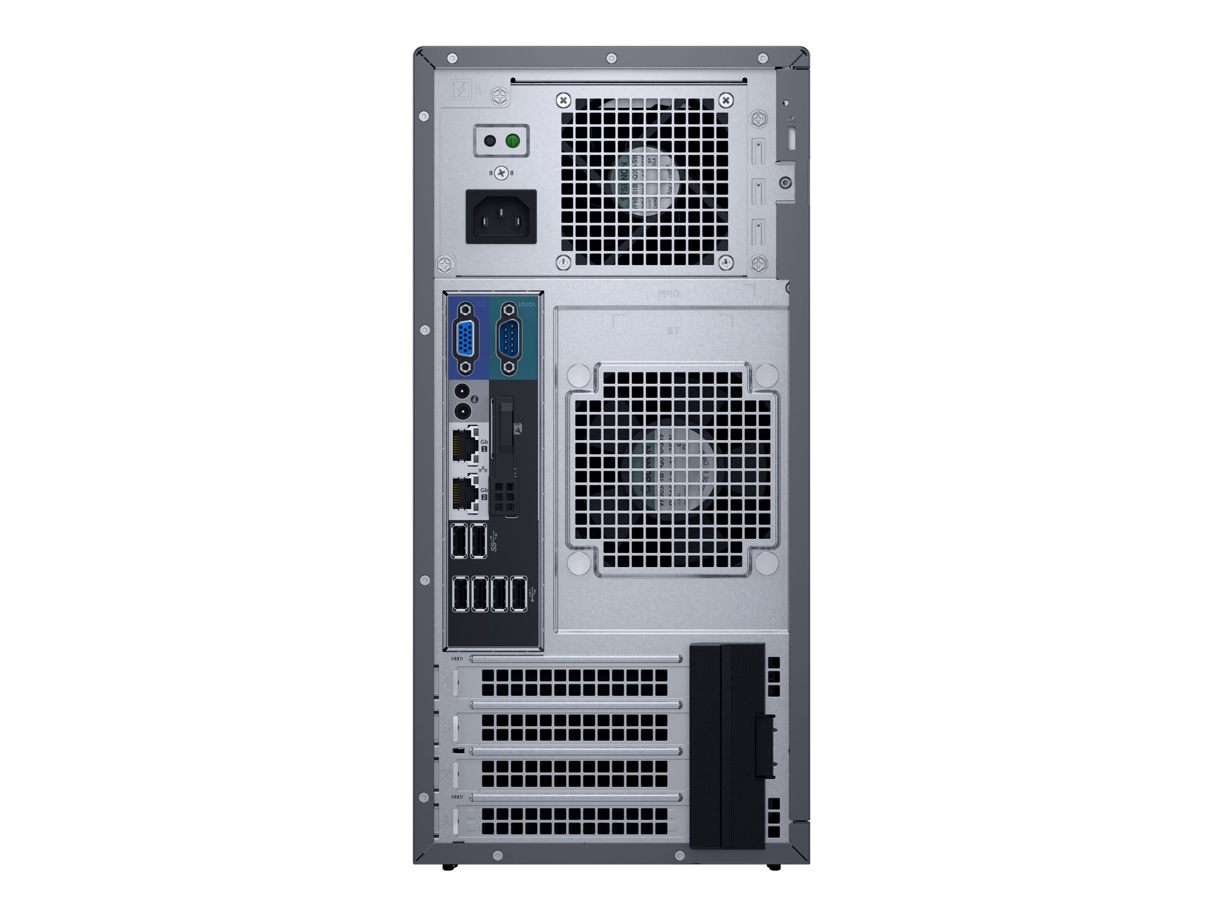 Dell PowerEdge T130 Tower Xeon QC E3-1240 v5 3.5GHz 8GB 1x1TB SATA 4x3.5 DC Bays H330 DVD 2xGbE, 463-7652