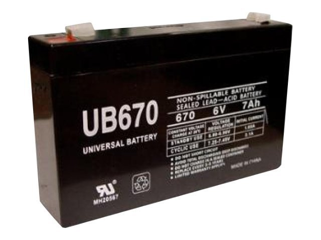 Ereplacements UPS Replacement Battery, 6V, 7Ah, UB670-ER
