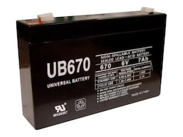 Ereplacements UPS Replacement Battery, 6V, 7Ah, UB670-ER, 13459734, Batteries - Other