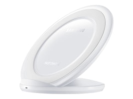 Samsung Fast Charge Wireless Charging Stand, White, EP-NG930TWUGUS, 31564669, Battery Chargers