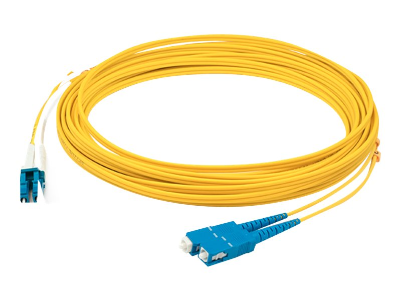 ACP-EP LC-SC APC SMF 9 125 Polished Duplex Fiber Optic Angle Cable, 8m, ADD-ASC-LC-8M9SMF