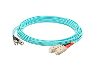 ACP-EP ST-SC OM3 Multimode LOMM Fiber Patch Cable, Aqua, 30m, ADD-ST-SC-30M5OM3
