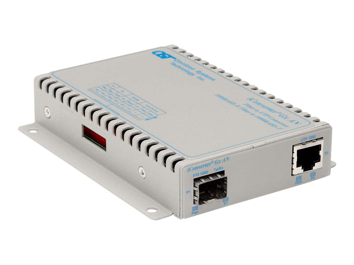 Omnitron iConverter GX AN Module 1000BT 1000Base-X to SFP Option, 8519N-0, 10039785, Network Transceivers
