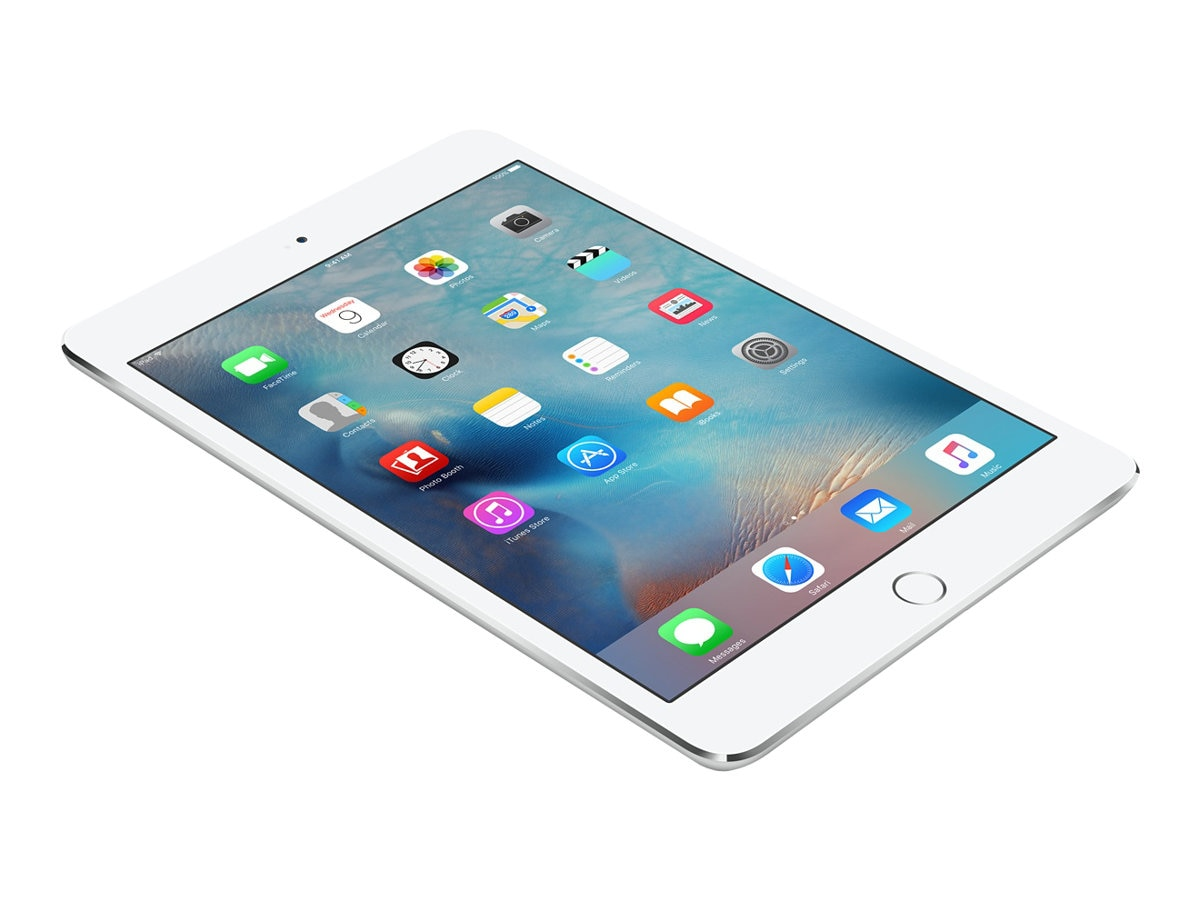 Apple iPad Mini 4 128GB, WiFi+Cellular, Silver, MK8E2LL/A