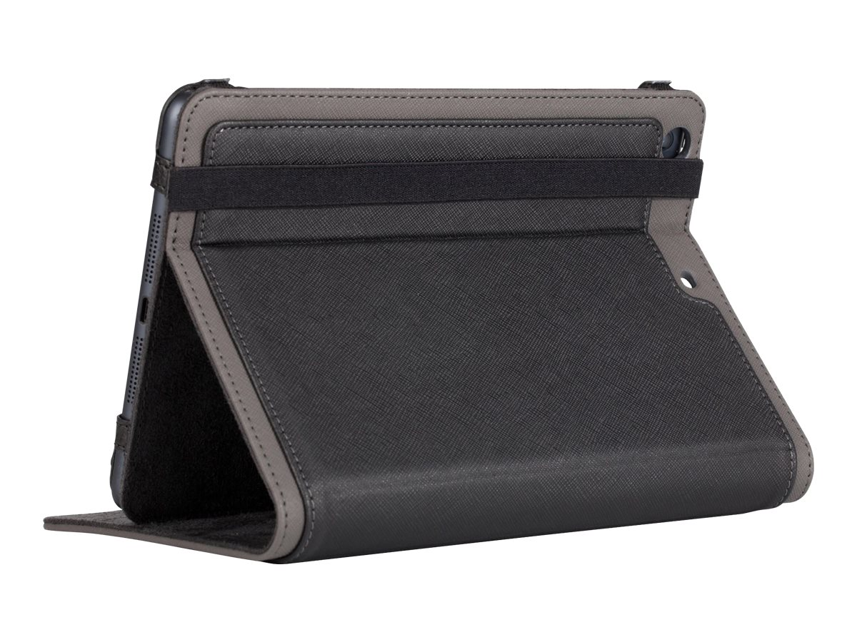 Targus Foliostand for iPad mini, Black Gray Crosshatch, THZ37212US