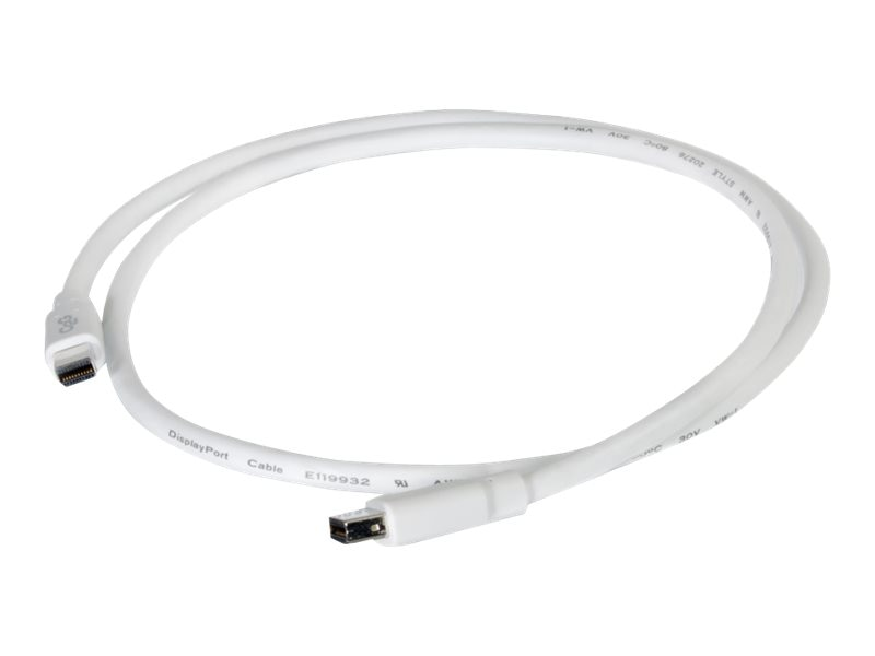 C2G Mini DisplayPort M F Cable, White, 6ft, 54414, 17320801, Cables