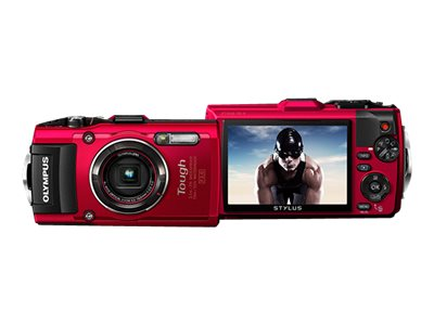 Olympus TG-4 Digital Camera Ultimate Adventure Kit, Red, V104160RU050