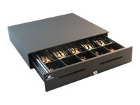 APG S4000 Cash Drawer Enet I F w  Audible Alert 1816 5-Bill 5-Coin, Black