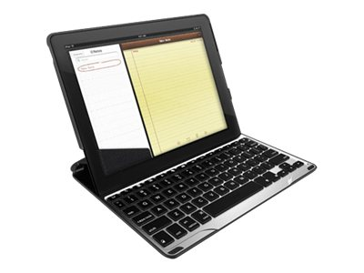 Zagg PROfolio+ Ultrathin Backlit Keyboard Case for iPad 2 3 4, Black, FOLPROBLK101, 30906330, Keyboards & Keypads