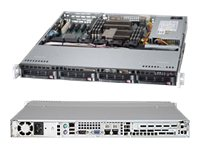 Supermicro SuperServer Barebones 1U RM Xeon E5-2400 Family(x2) Max.192GB DDR3 4x3.5 HS Bays PCIe GNIC 350W