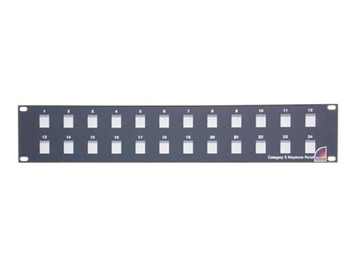 StarTech.com 24 Port 2U Rack Mount Blank Patch Panel for Keystone Jacks, BLANKPATCH24, 12682475, Rack Mount Accessories