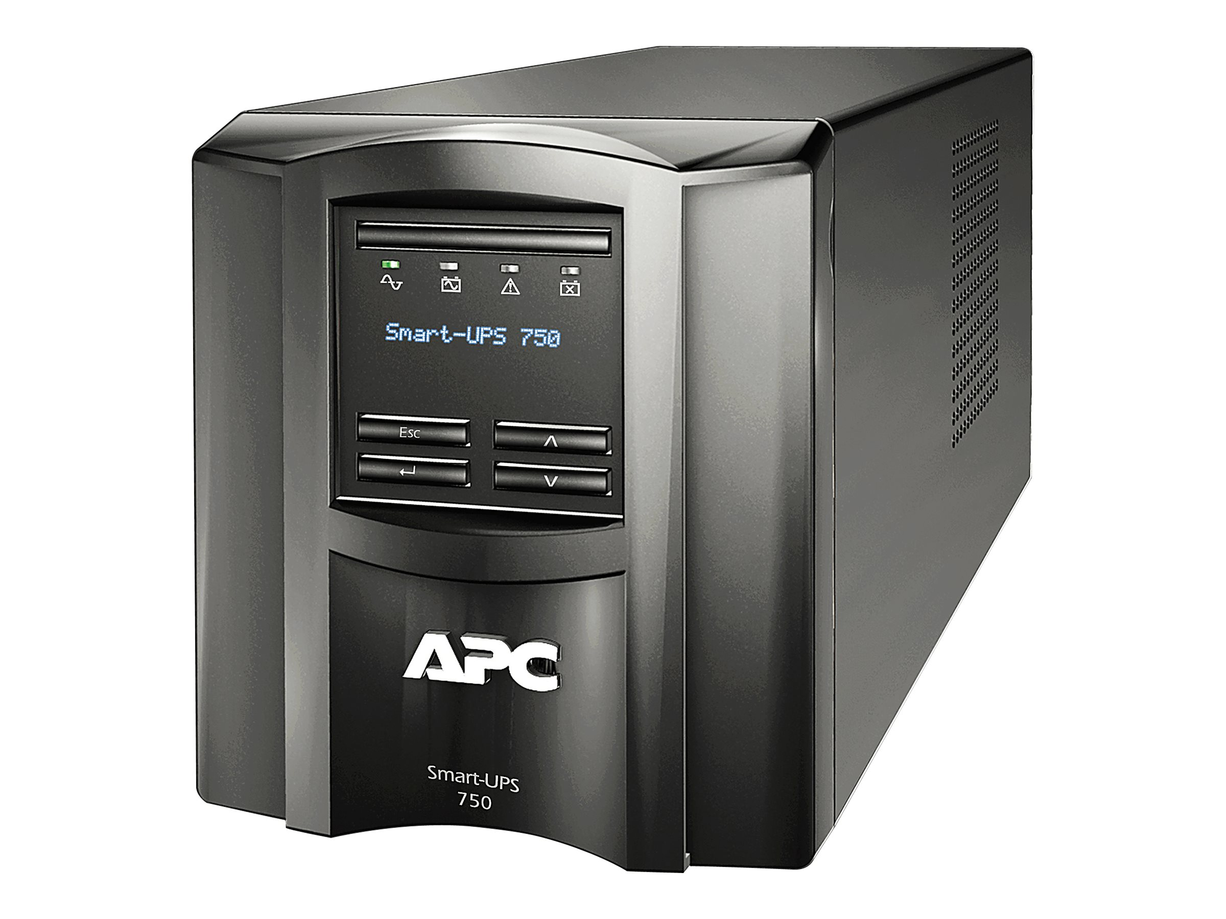 APC Smart UPS 750VA LCD Int'l 230V C14 Input (6) C13 Outlets Serial USB Smartslot, SMT750I, 11847080, Battery Backup/UPS