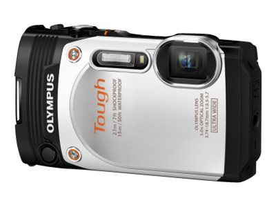 Olympus Stylus Tough TG-860 Digital Camera, 16 MP, White, V104170WU000