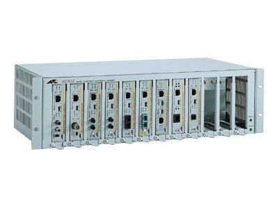 Allied Telesis 12-Slot Media Converter Chassis for Single MC Series Media Converter, AT-MCR12-50, 13372292, Network Device Modules & Accessories