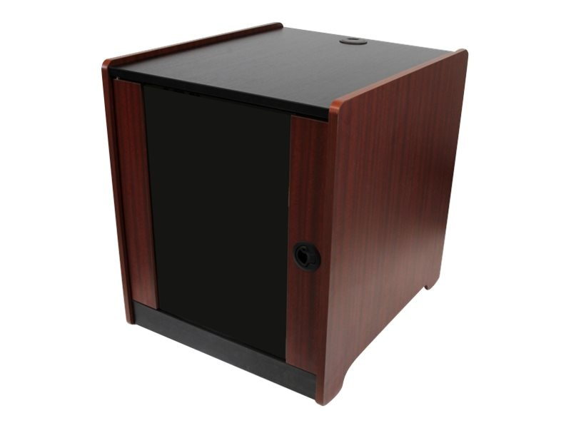 StarTech.com 12U Office Server Cabinet w  Wood Finish, Casters