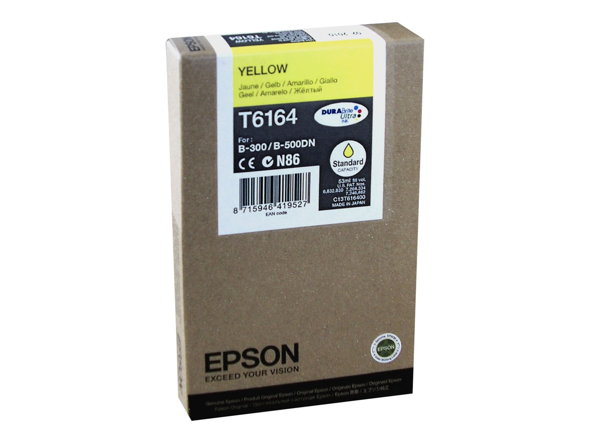 Epson Yellow Ink Cartridge for the B-300 & B-500DN Business Color Ink Jet Printer, T616400