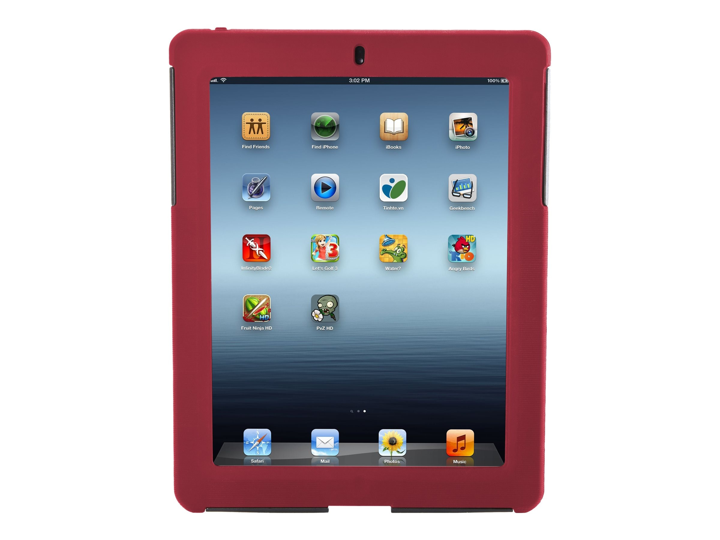 Targus Rugged Safeport Case for iPad 3 4, Red