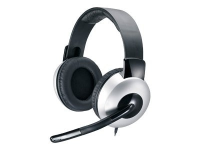Kye Genius HS-05A Full Size Headset, Ear Cup, Binaural, 31710011100, 13650766, Headsets (w/ microphone)