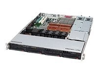 Supermicro SuperChassis 815TQ 1U Chassis, Black, CSE-815TQ-R500CB, 14541625, Cases - Systems/Servers