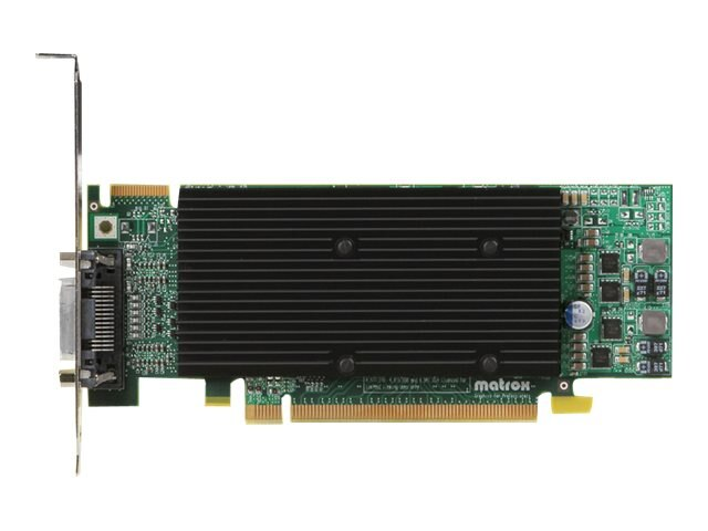 Matrox M9120 Plus LP PCIE X16 Low Profile Quad Upgradeable Dual Head Graphics Card, M9120-E512LPUF, 8786280, Graphics/Video Accelerators