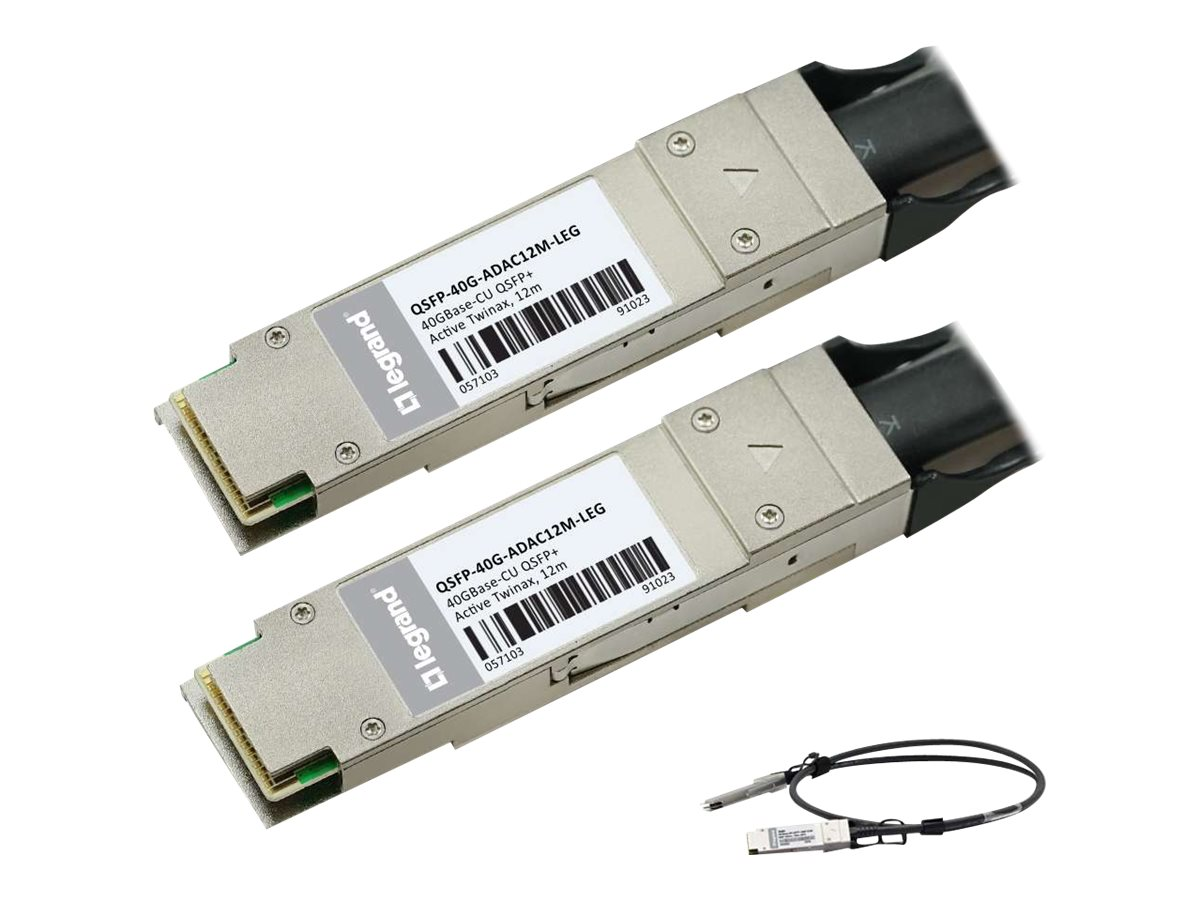 C2G 40GBASE-CU QSFP+ to QSFP+ Direct Attach Passive Twinax Cable, 12m, MSA and TAA Compliant