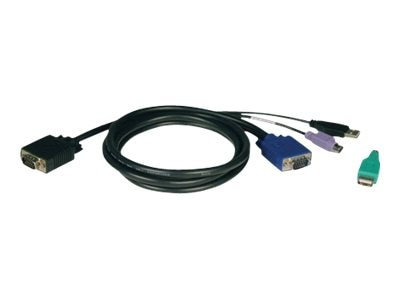 Tripp Lite PS 2 and USB KVM Cable for B042 Switches, Black, 10ft, P780-010