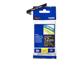 Brother 0.47 x 26.2' TZe335 White on Black Tape for P-Touch 8m, TZE-335, 12428004, Paper, Labels & Other Print Media