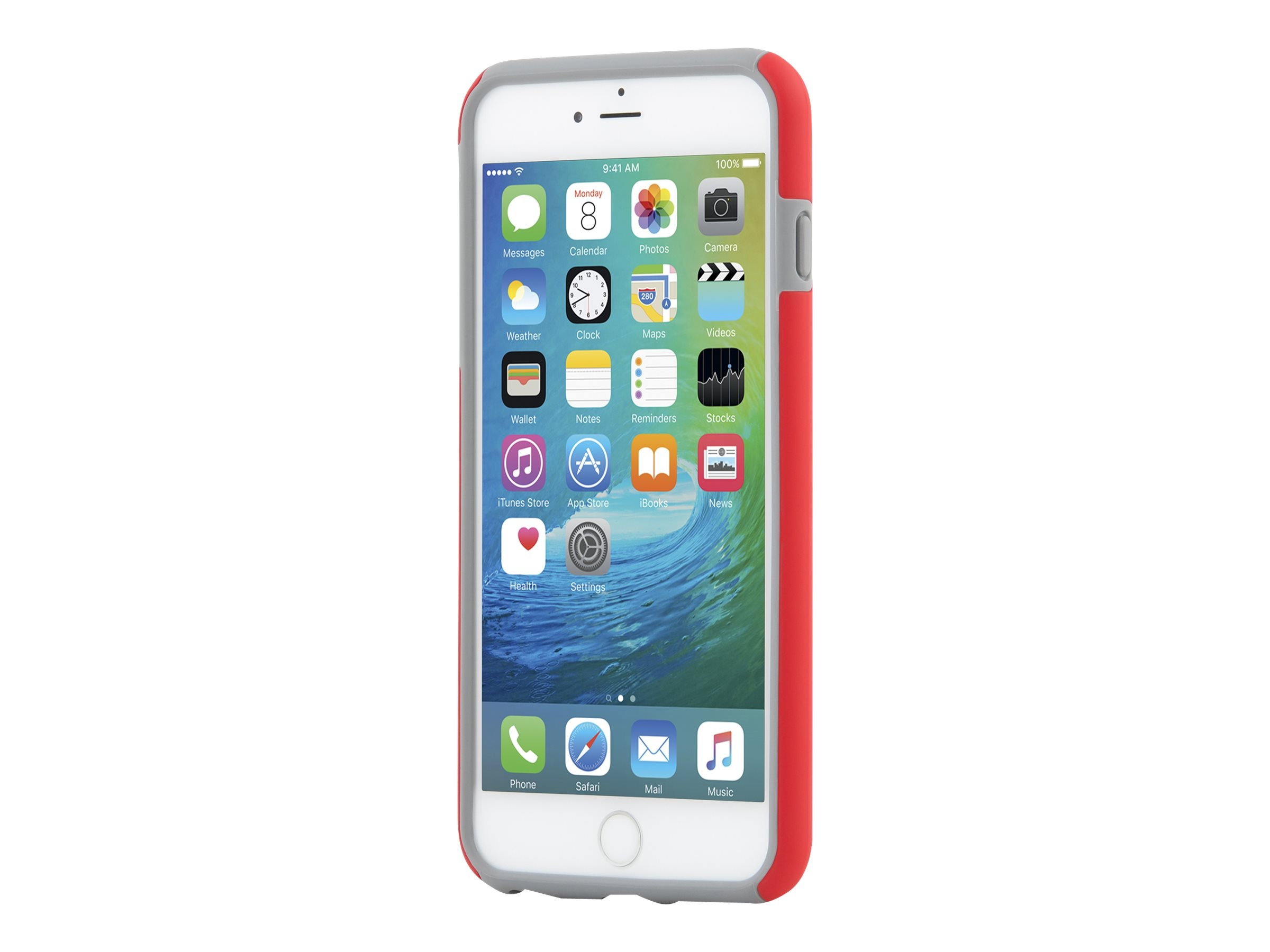 Incipio DualPro Hard Shell Case w  Impact Absorbing Core for iPhone 6 6S Plus, Red Charcoal