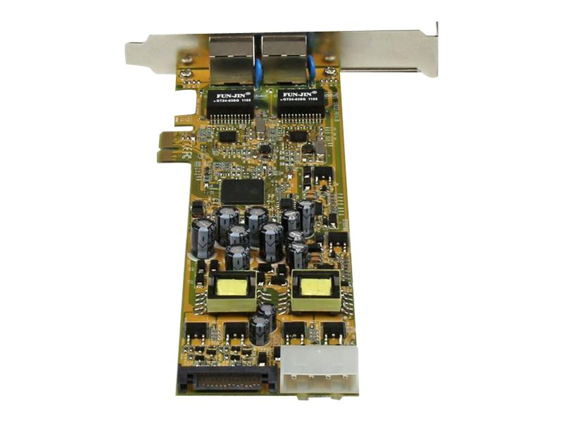 StarTech.com Dual Port PCI Express Gigabit Ethernet PCIe Network Card Adapter, ST2000PEXPSE