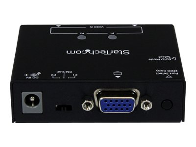 StarTech.com 2-Port VGA Auto Switch Box with Priority Switching and EDID Copy, ST122VGA