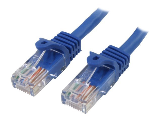 StarTech.com Cat5e 350MHz Snagless Patch Cable, Blue, 100ft, RJ45PATCH100, 445288, Cables