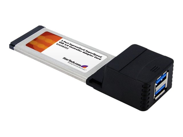 StarTech.com 2-Port ExpressCard SuperSpeed USB 3.0 Card Adapter, ECUSB3S2