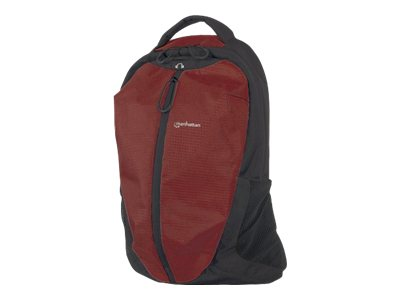 Manhattan Airpack Lightweight Top Load Backpack, Red Black